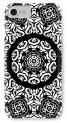 Black And White Medallion 10 IPhone Case by Angelina Vick