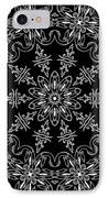 Black And White Medallion 11 IPhone Case by Angelina Vick