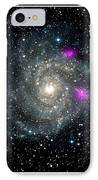 Black Holes In Spiral Galaxy Nasa IPhone Case by Rose Santuci-Sofranko