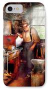 Blacksmith - The Smithy  IPhone Case by Mike Savad