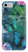 Blue Butterfly Dream IPhone Case by Alixandra Mullins