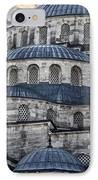 Blue Dawn Blue Mosque IPhone Case by Joan Carroll