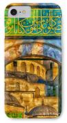 Blue Mosque Painting IPhone Case by Antony McAulay