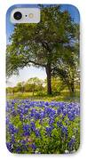Bluebonnet Meadow IPhone Case by Inge Johnsson