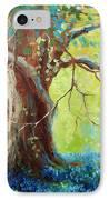 Bluebonnets Under The Oak IPhone Case by David G Paul