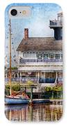 Boat - Tuckerton Seaport - Tuckerton Lighthouse IPhone Case by Mike Savad