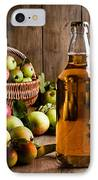 Bottled Cider With Apples IPhone Case by Amanda Elwell