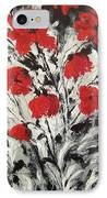 Bright Red Poppies IPhone Case by Renate Voigt