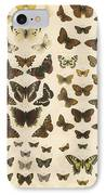 British Butterflies IPhone Case by English School