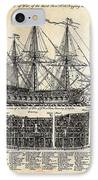 British Ships Of War  1728 IPhone Case by Daniel Hagerman