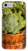 Broccoli In Baskets IPhone Case by Teri Virbickis