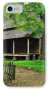 Cabin In The Mountains IPhone Case by David Davis