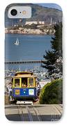 Cable Car In San Francisco IPhone Case by Brian Jannsen
