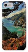 California Coastline IPhone Case by Benjamin Yeager