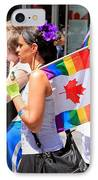 Canadian Rainbow IPhone Case by Valentino Visentini
