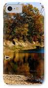 Canoe On The Gasconade River IPhone Case by Steve Karol