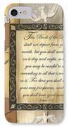 Caramel Scripture IPhone Case by Debbie DeWitt