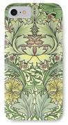Carnations Design IPhone Case by William Morris