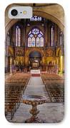 Cathedrale Saint-etienne Interior / Cahors IPhone Case by Barry O Carroll