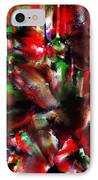 Caught In The Crowd Two Water Color And Pastels Wash IPhone Case by Sir Josef - Social Critic - ART