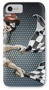Checkered Flag Grunge Color IPhone Case by Frank Ramspott