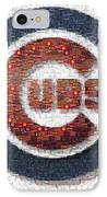 Chicago Cubs Mosaic IPhone Case by David Bearden