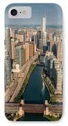 Chicago River Aloft IPhone Case by Steve Gadomski
