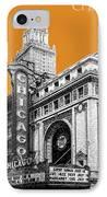 Chicago Theater - Dark Orange IPhone Case by DB Artist