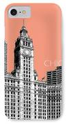 Chicago Wrigley Building - Salmon IPhone Case by DB Artist
