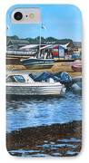 Christchurch Hengistbury Head Beach With Boats IPhone Case by Martin Davey