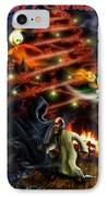 Christmas Greeting Card IPhone Case by Alessandro Della Pietra
