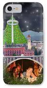 Christmas In Spokane IPhone Case by Mark Armstrong