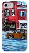 Christmas Shopping In Concord Center IPhone Case by Rita Brown
