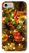 Christmas Tree Background IPhone Case by Elena Elisseeva