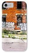 Cincinnati Glencoe Auburn Place Graffiti Photo IPhone Case by Paul Velgos
