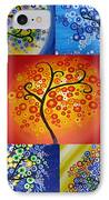 Circle Trees IPhone Case by Cathy Jacobs