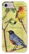 Citron Songbirds 2 IPhone Case by Debbie DeWitt