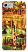 City - Vegas - Venetian - The Venetian At Night IPhone Case by Mike Savad
