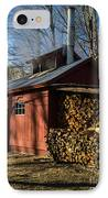 Classic Vermont Maple Sugar Shack IPhone Case by Edward Fielding