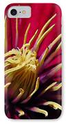 Clematis Center In Oils IPhone Case by Chris Berry