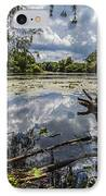 Clouds On The Water IPhone Case by CJ Schmit