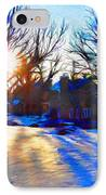 Cold Morning Sun IPhone Case by Jeff Kolker