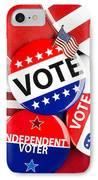 Collection Of Vote Badges IPhone Case by Joe Belanger