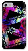 Colored Geometric Art IPhone Case by Mario Perez