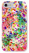 Colorful Abstract Circles IPhone Case by Susan Leggett