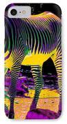 Colourful Zebras  IPhone Case by Aidan Moran