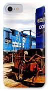 Conrail Choo Choo  IPhone Case by Frozen in Time Fine Art Photography