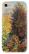 Corner Of Garden In Montgeron IPhone Case by Claude Monet