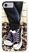 Crossed Feet Of Teen Girl IPhone Case by Birgit Tyrrell