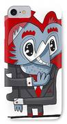 Cunning Businessman Doodle Character IPhone Case by Frank Ramspott